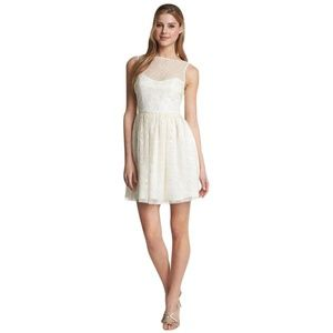 NEW Jill Stuart Ivory Sequin Embellished Dress